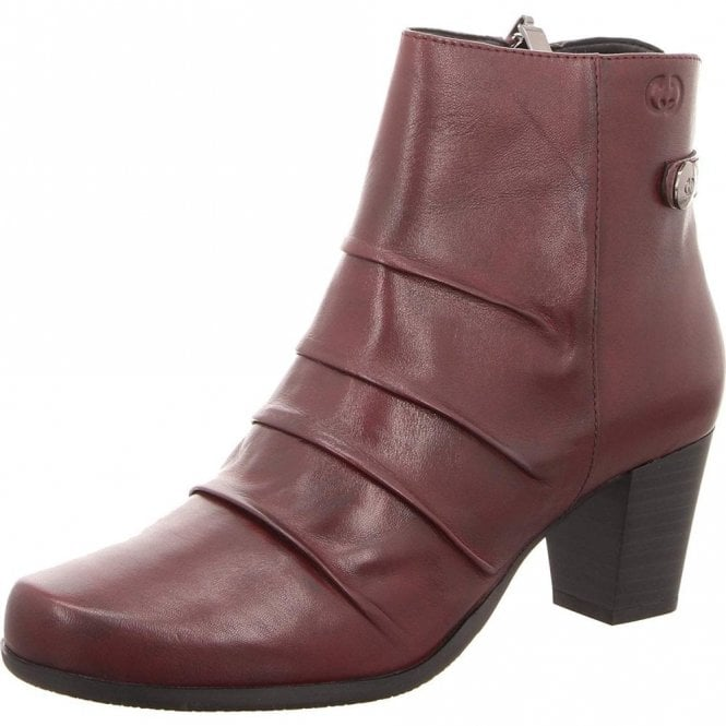 Gerry Weber Louanne 09 Bordeaux Leather Ankle Boot