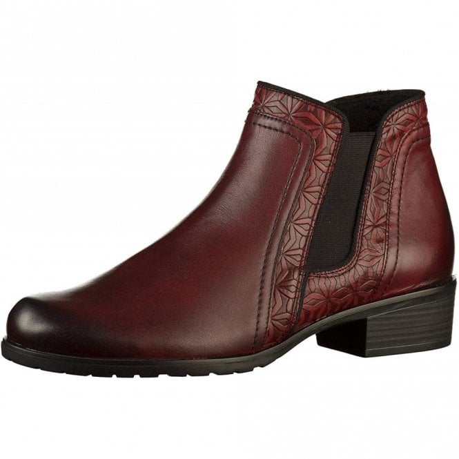 Remonte Dorndorf D6873-35 Chianti Red Leather Ladies Ankle Boot