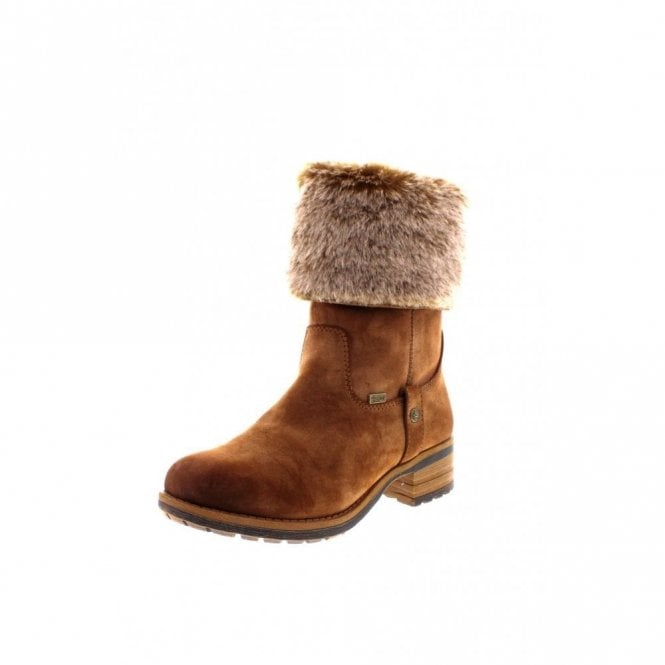 Rieker 96854-24 Tan Water Resistant Warm Lined Boot