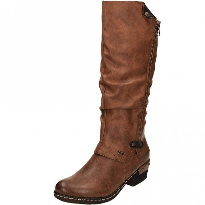 Rieker 93655-26 Brown Synthetic Warm Lined Water Resistant Boot