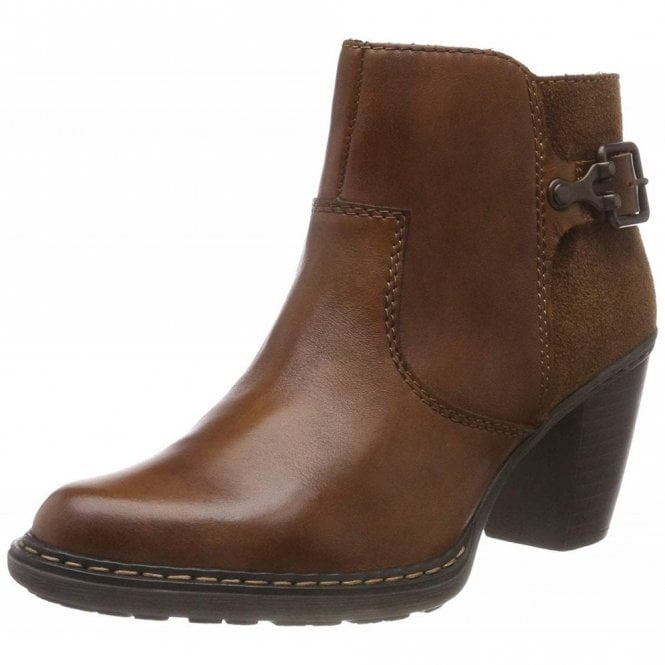 Rieker 55292-24 Brown Leather Warm Lined Boot