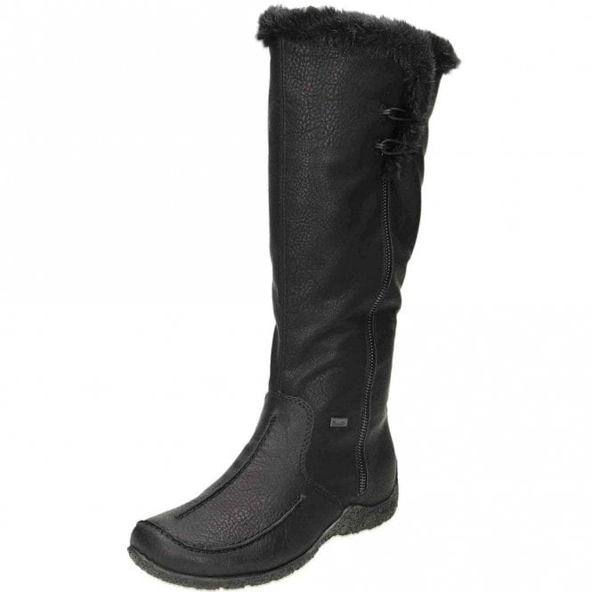 Rieker 79954-00 Black Warm Lined Water Resistant Boot