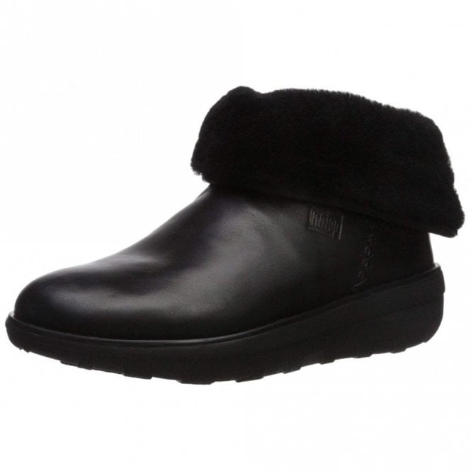 FitFlop Mukluk Shorty 2 Black Leather Boot