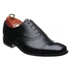 Flynn Black Leather Lace up Shoe