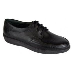 Dash Black Leather Lace Shoe