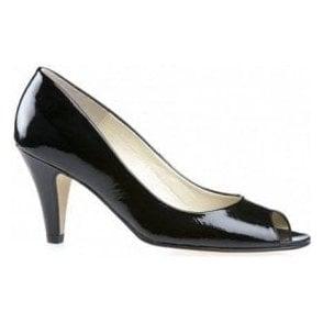 Danvers Black Patent Peep Toe Shoe