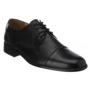 Farnham Black Leather Lace up Shoe