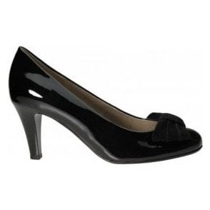Tempest 55.211.97 Black Patent Court Shoe with Bow