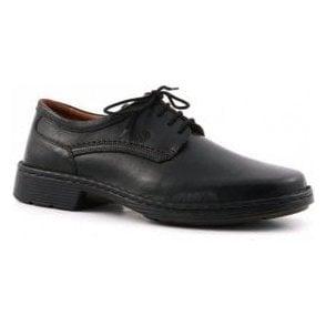 Talcott Black Leather Lace Shoe