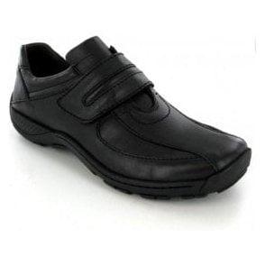 Arthur Black Leather Velcro Shoe