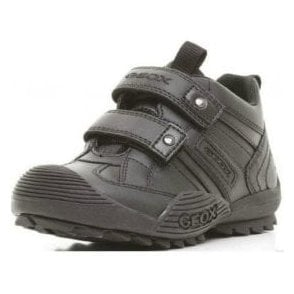 J Savage G Black Leather Boys Shoe