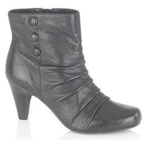 Alamance Black Leather Ankle Boot