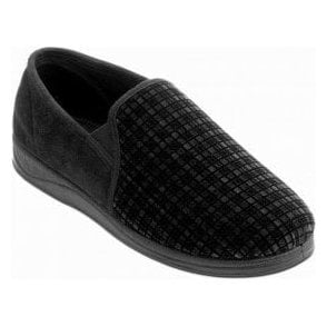 Albert Checked Micro Suede Slipper