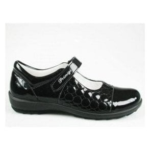 Camelia Black Patent Girl's Shoe