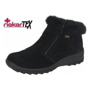 Eike L7163-00 Black Suede Waterproof Ankle Boot