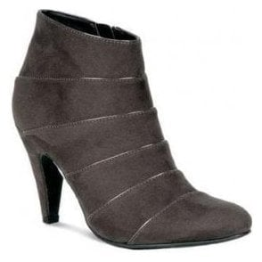 GLV551 Grey Ladies Ankle Boot