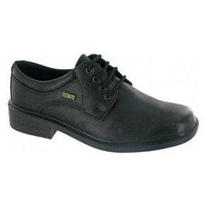Sudeley Black Leather Waterproof Lace Shoe
