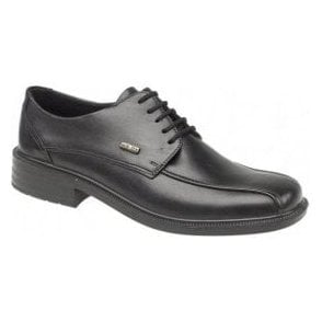 Stonehouse Black Leather Waterproof Lace Shoe