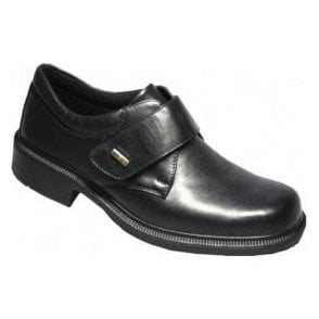 Cleeve Black Leather Velcro Waterproof Shoe