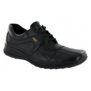 Cam Black Leather Waterproof Lace Shoe