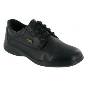 Ruscombe Black Leather Ladies Waterproof Shoe