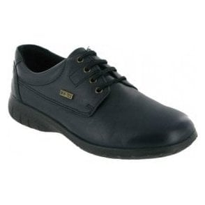 Ruscombe Navy Leather Ladies Waterproof Shoe