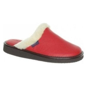 Adele Red, Navy or Magenta Leather Slipper