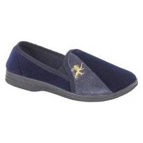 Aaron Navy / Grey Full Slipper