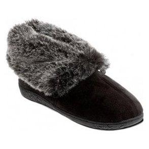 Eskimo Black Micro Suede Slipper