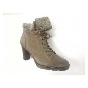 7876-887 Grey Nubuck Leather lace up Boot