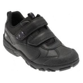 Arachnid Black Leather Boys Shoe