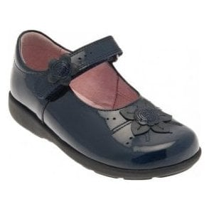 Violet Navy Patent Girl's Shoe