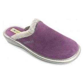 234 Afelpado Purple Suede Leather Mule Ladies Slipper
