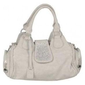 H1112-40 Grey Handbag with Glitzy Trim