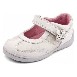 Super Soft Amy White Leather Girl's Shoe