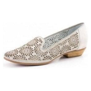 Doris 07 Off White Leather Shoe