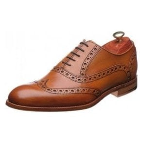 Grant Cedar Tan Leather Lace Up Brogue Shoe