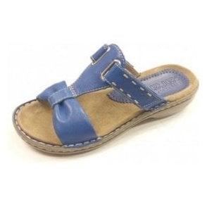57221-06 Blue Softbrush Electric Velcro Mule Sandal
