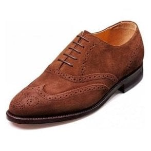 Albert Castagnia Suede Lace Up Brogue Shoe