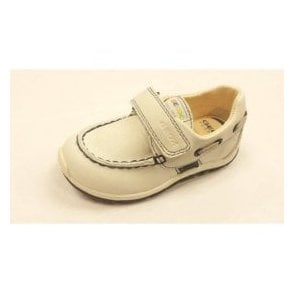 B Shaax B. D White Leather Velcro Boys Shoe