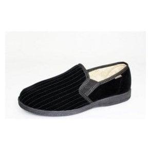 Calder Black Two Tone Full Slipper