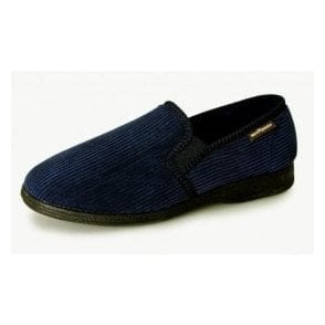 Humber Navy Cord Full Slipper
