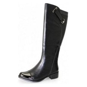 Josie GLC433 Black Patent Croc / Synthetic Leather Ladies Boot