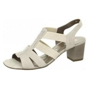 54679-06 Light Grey Sandal with Diamonte Trim