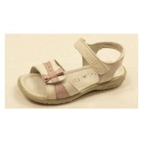 Marie 6425800-326 White Leather Girl's Sandal