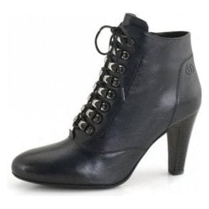 Fabienne 19 Navy Leather Boot