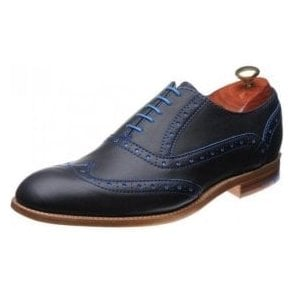 Grant Navy / Classic Blue Calf Leather Lace Up Brogue Shoe