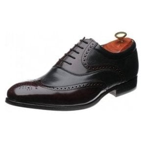 Bakewell Burgundy Hi-Shine / Black Nappa Leather Lace up Shoe