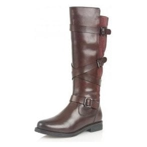 Rydel Bordeaux Leather & Suede Knee-High Boots