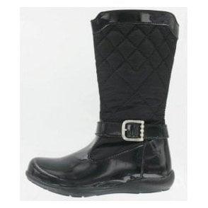 Kelia Black Patent Girl's Boots
